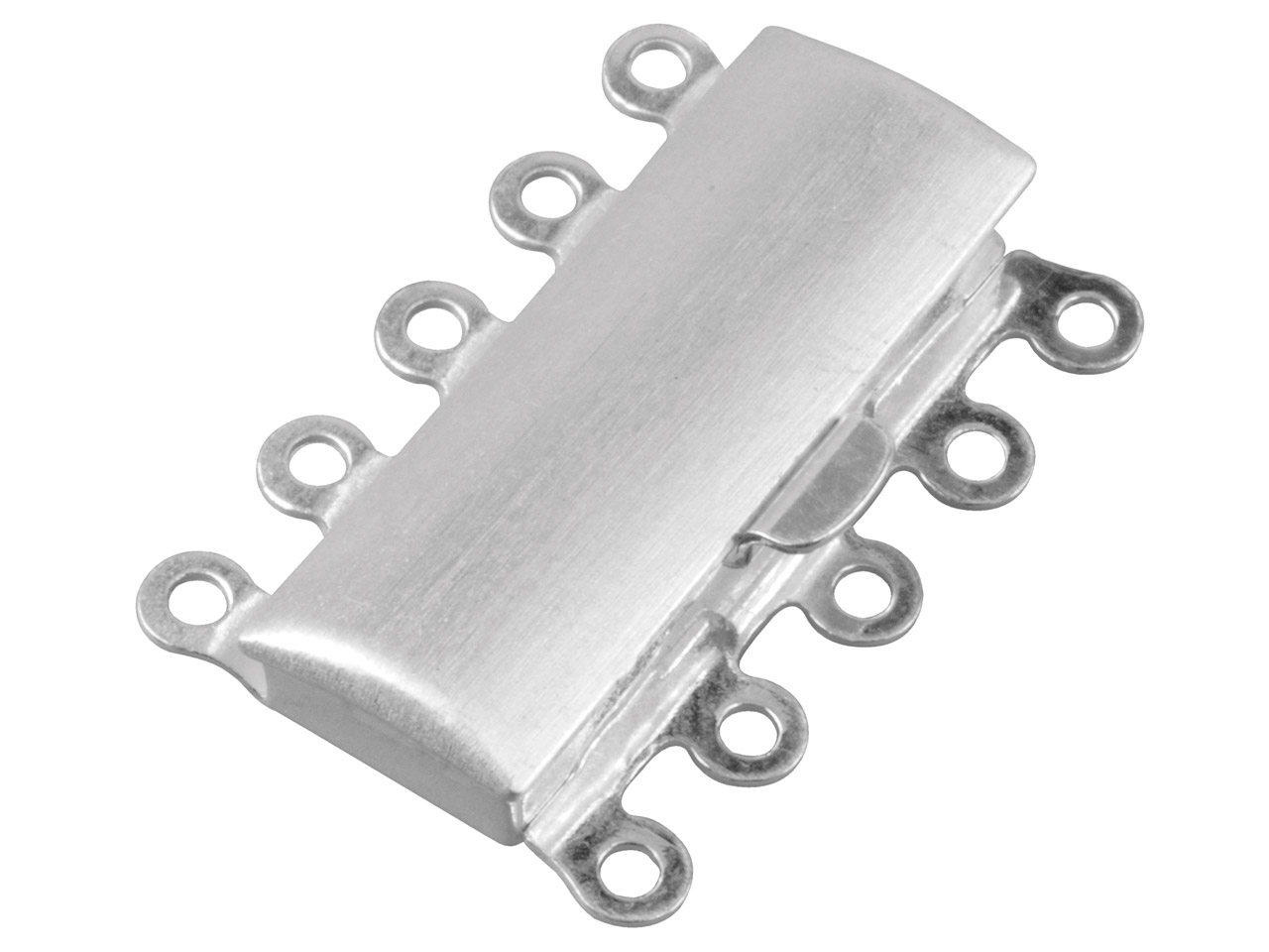 Sterling Silver 5 Row Clasp 23x16mm Matt Finish
