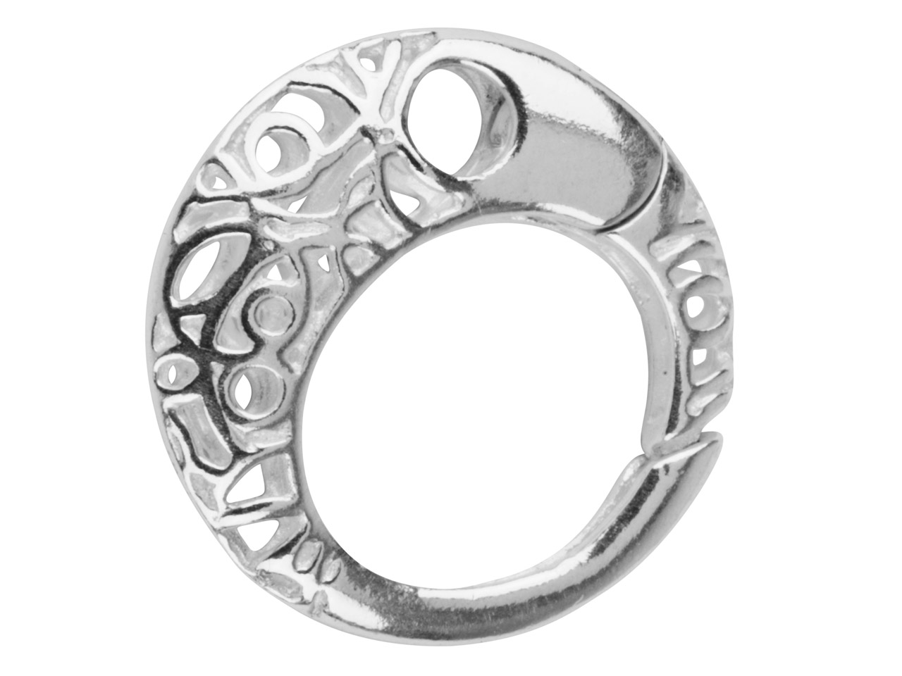 Sterling Silver Filigree Ring Clasp 20mm Continuous