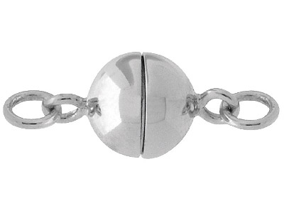 Sterling Silver Magnetic Clasp 7mm Ball