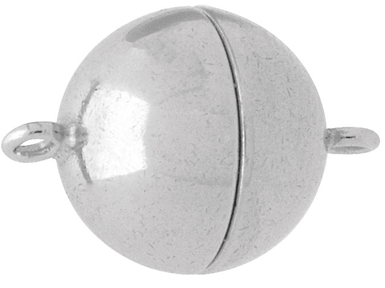 Sterling Silver Magnetic Clasp 10mm Ball