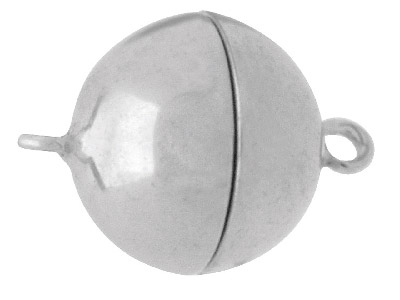 Sterling Silver Magnetic Clasp 12mm Ball