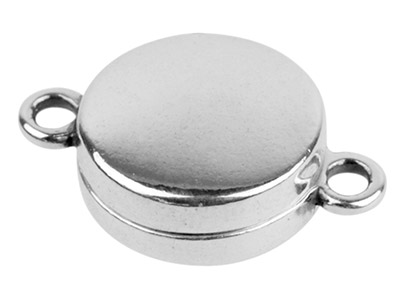 Sterling Silver Magnetic Clasp 11mm Round