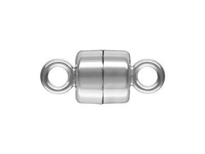 Sterling Silver Magnetic Clasp     Round 4.5mm