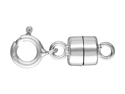 Sterling Silver Magnetic Clasp     Converter With Bolt Ring