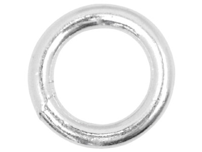 Sterling Silver 4mm Closed,        Pack of 10, Jump Rings, 4mm        Diameter X 0.8mm Round Wire