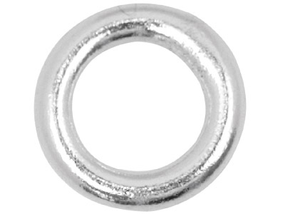 Sterling Silver 5mm Closed,        Pack of 10, Jump Rings, 5mm        Diameter X 1.0mm Round Wire