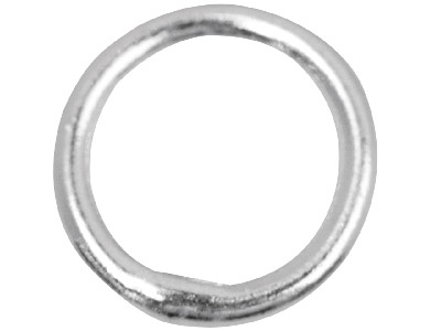 Sterling Silver 7mm Closed,        Pack of 10, Jump Rings, 7mm        Diameter X 1.0mm Round Wire