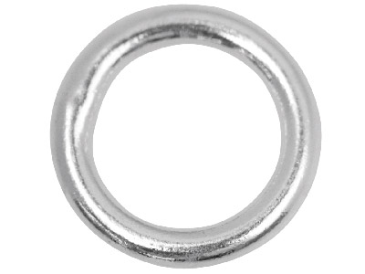 Sterling Silver 8mm Closed,        Pack of 10, Jump Rings, 8mm        Diameter X 1.2mm Round Wire