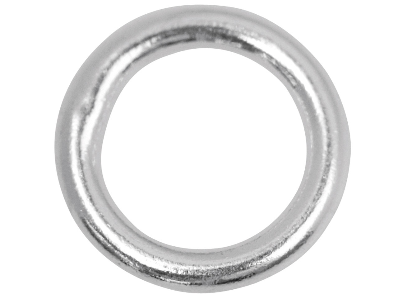 ddaecb16568e1 Sterling Silver 8mm Closed, Pack of 10, Jump Rings, 8mm Diameter X 1.2mm  Round Wire