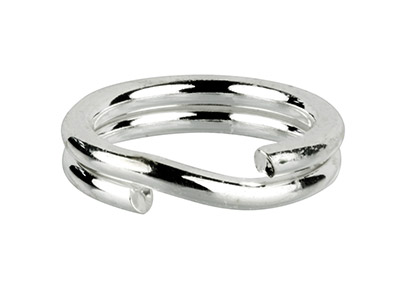 Sterling Silver Split Ring 7mm,    Pack of 10