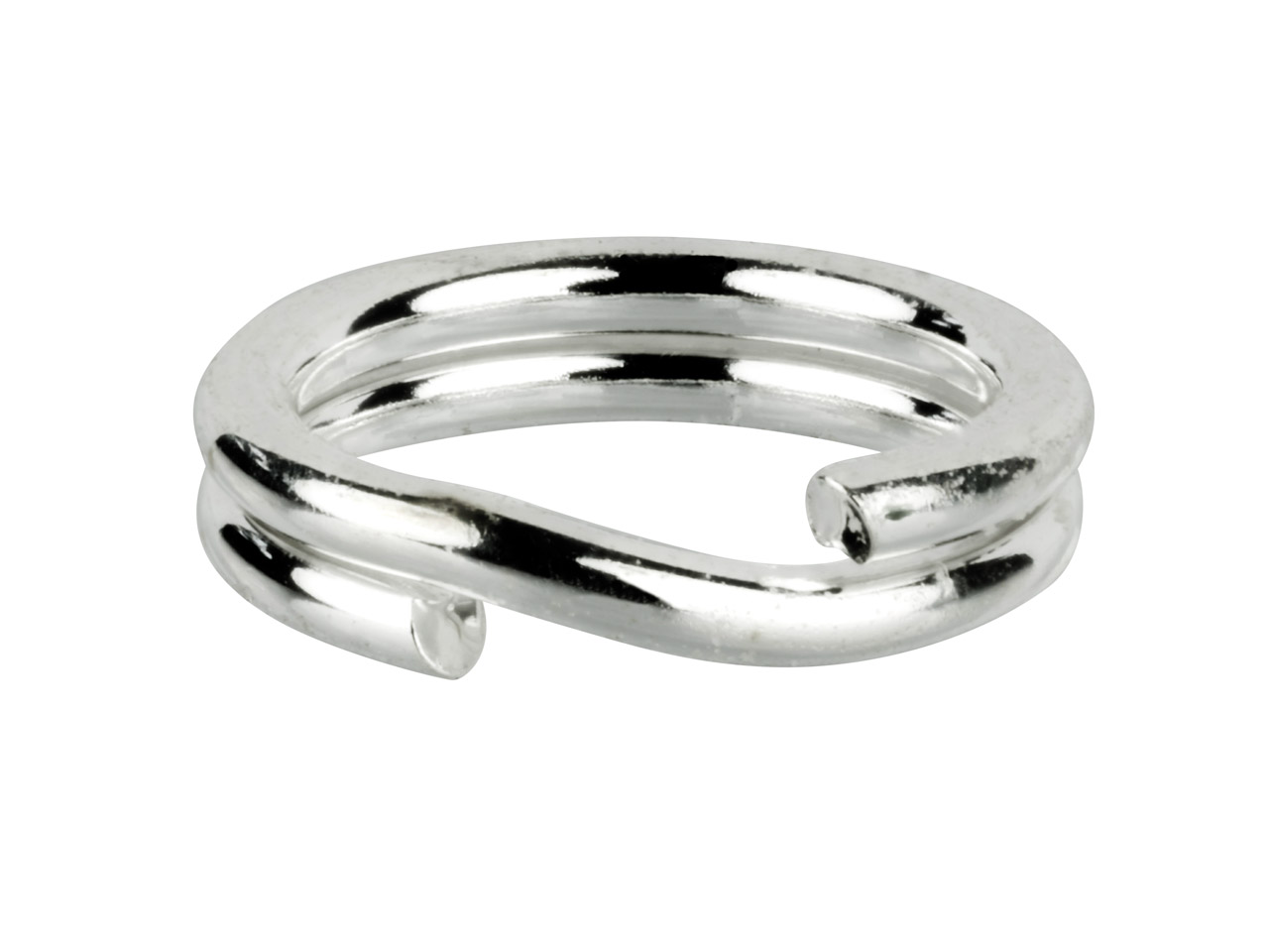 Sterling Silver Split Ring 8mm,    Pack of 10