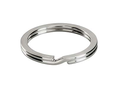Sterling Silver Key Ring 32mm Split Ring, 3679
