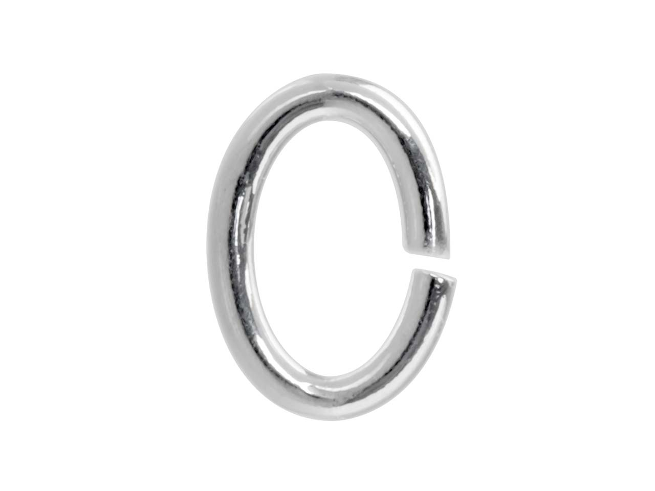 Sterling Silver Jump Ring Oval 5mm, Pack of 20