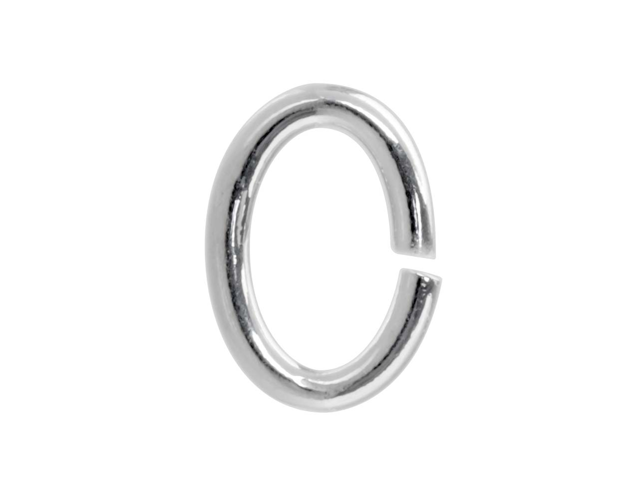 Sterling Silver Jump Ring Oval 7mm, Pack of 10