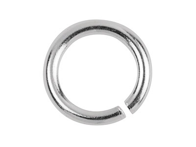 Sterling Silver Jump Ring Heavy 6mm, 12.7gms/100 Pieces