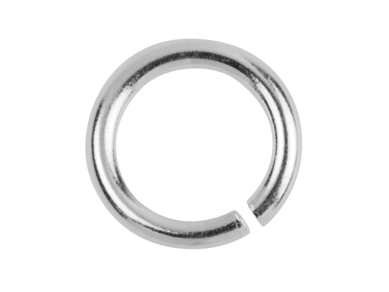 Sterling Silver Jump Ring Heavy    6mm, 12.8gms/100 Pieces