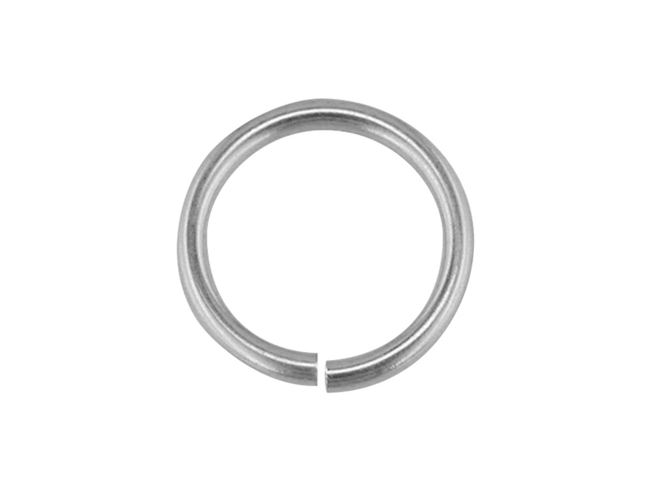 Sterling Silver Jump Ring Light    6mm, 8.8gms/100 Pieces