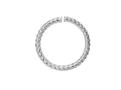 Sterling Silver Twisted Wire       Jump Ring 10mm