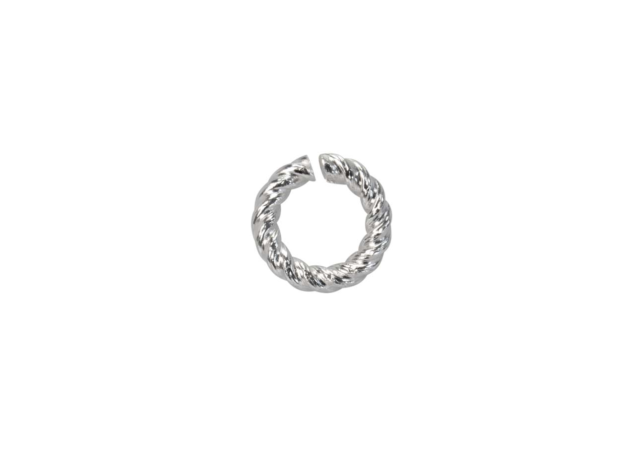 Sterling Silver Twisted Wire       Jump Ring 5mm
