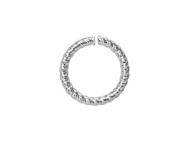 Sterling Silver Twisted Wire       Jump Ring 8mm