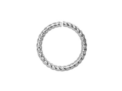 Sterling Silver Twisted Wire       Jump Ring 9mm