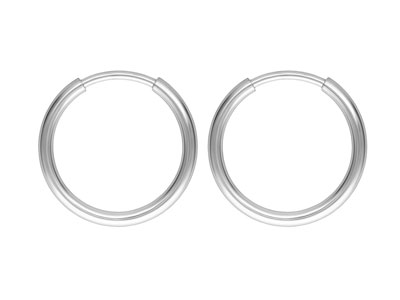 Sterling Silver Endless Hoops 12mm Pack of 2