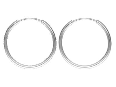 Sterling Silver Endless Hoops 16mm Pack of 2