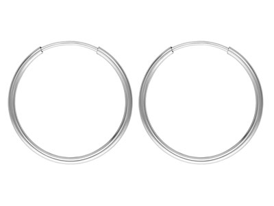 Sterling Silver Endless Hoops 20mm Pack of 2