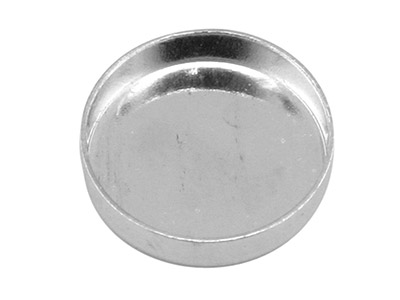 Sterling Silver Round Bezel Cup, 8mm, Pack of 6
