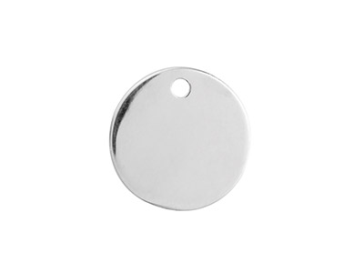 Sterling Silver Round Disc 15mm    Stamping Blank Pack of 3 With 1    Hole