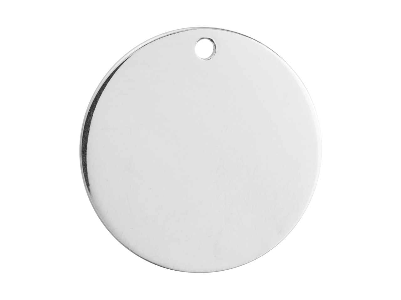 Sterling Silver Round Disc 25mm    Stamping Blank