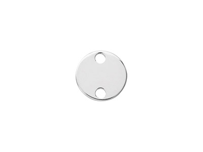 Sterling Silver Round Disc 10mm    Stamping Blank Pack of 5 With 2    Holes