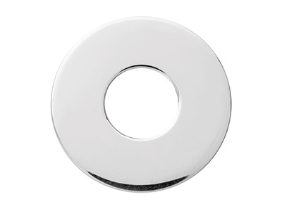 Sterling Silver Fender Washer 25mm Stamping Blank
