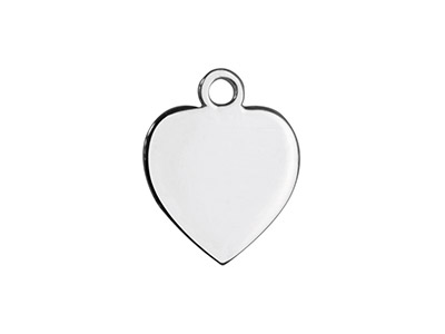 Sterling Silver Heart 10mm         Stamping Blank Pack of 5