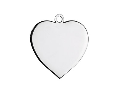 Sterling Silver Heart 20mm         Stamping Blank Pack of 3