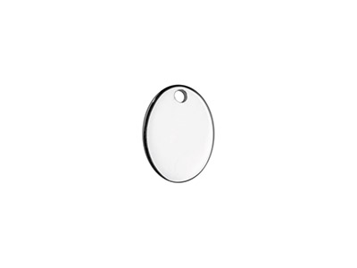 Sterling Silver Oval Tag 8x6mm     Stamping Blank Pack of 5