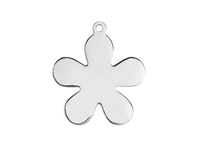 Sterling Silver Flower 20mm        Stamping Blank Pack of 3