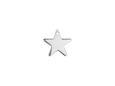 Sterling Silver Star 10mm          Stamping Blank Pack of 5