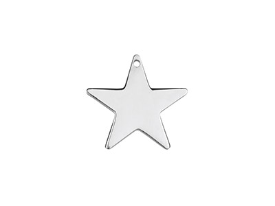 Sterling Silver Star 15mm          Stamping Blank Pack of 3