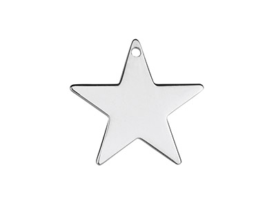 Sterling Silver Star 20mm          Stamping Blank Pack of 3