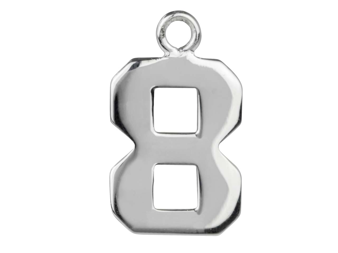 Sterling Silver Number 8