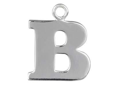 Sterling Silver Letter B           Stamping Blank