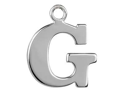 Sterling Silver Letter G           Stamping Blank