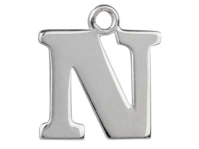 Sterling Silver Letter N           Stamping Blank