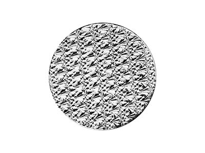 Sterling Silver Diamond Cut 20mm   Textured Blank Pack of 3