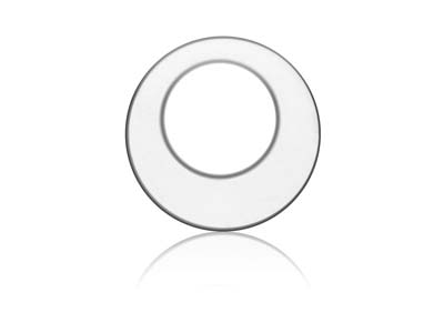 Sterling Silver Offset Washer 14mm