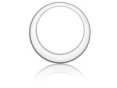 Sterling Silver Offset Washer 20mm