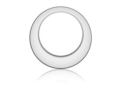 Sterling Silver Offset Washer 26mm