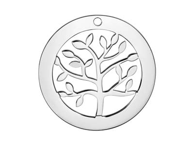 Sterling Silver Tree Of Life Washer 32mm Stamping Blank