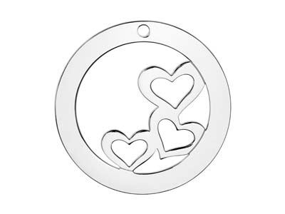 Sterling Silver Heart Washer 32mm  Stamping Blank